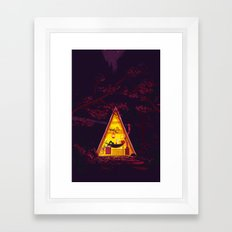 The Hideout – Night Version Framed Art Print
