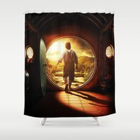 lord of the rings Shower Curtains featuring THE LORD OF THE RINGS by September 9