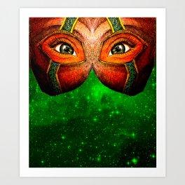 Emerald Galaxy Gaze Art Print