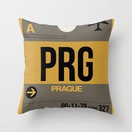 PRG Prague Luggage Tag 1 Throw Pillow