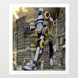 Steampunk Automaton Art Print