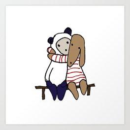 BB&P Hug Art Print