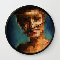laura palmer Wall Clocks featuring Who Pixelated Laura Palmer :; Twin Peaks by Kristin Frenzel