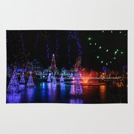 frozen pond lights Rug