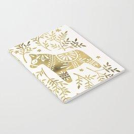 Swedish Dala Horses – Gold Palette Notebook