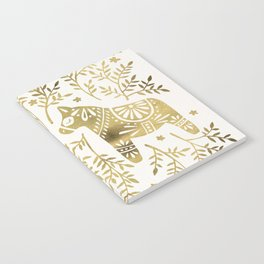 Swedish Dala Horses – Gold Palette Notebook