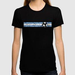 2018 Soccer Cup Argentina Flag ARG Championship Stripe T-shirt