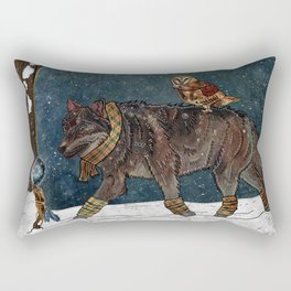 Winter Journey Rectangular Pillow