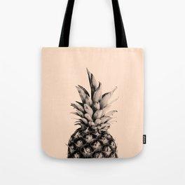 Pineapple on Pink Tote Bag