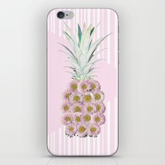Floral Pineapple Stripes Pink iPhone & iPod Skin