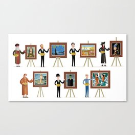 great painters of all the times Canvas Print
