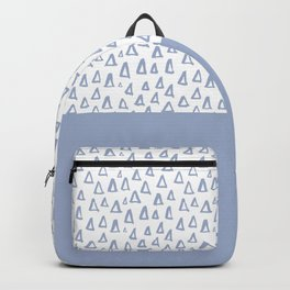 Triangles Light Blue Backpack