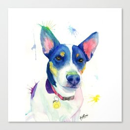 """Jack Russell Terrier Watercolour """"Charlie"""" Canvas Print"""