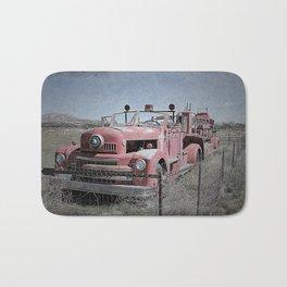 Vintage Fire Truck Bath Mat