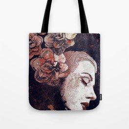 Obey Me: Blood (graffiti flower woman profile) Tote Bag