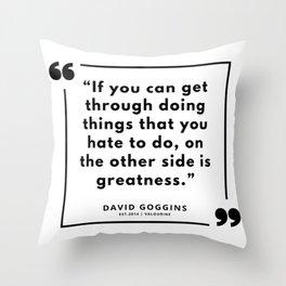 29   | David Goggins Quotes | 190901 Throw Pillow