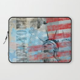 Lady Liberty Stars and Stripes Patriotic Artwork Laptop Sleeve