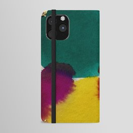 Abstract with Gold Leaf iPhone Wallet Case