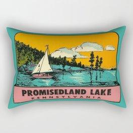 Vintage Retro Camping Promisedland Wanderlust Rectangular Pillow