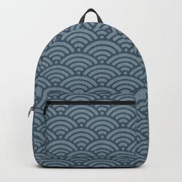 Blue Indigo Denim Waves Backpack