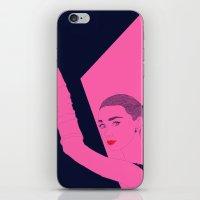 hepburn iPhone & iPod Skins featuring Hepburn by Agnes Domokos