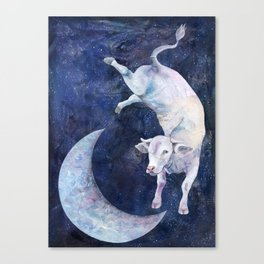 The Cow Jumped Over The Moon - II Canvas Print