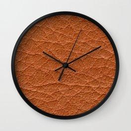 Paprika Orange Leather Texture Wall Clock