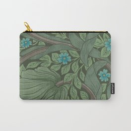 William Morris Art Nouveau Forget Me Not Floral Carry-All Pouch