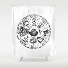 Wiccan Wheel Of The Year Shower Curtain