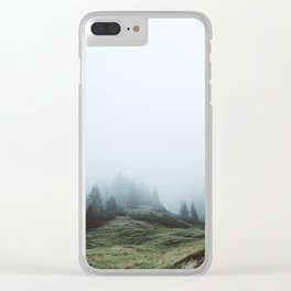In the mountains again Clear iPhone Case