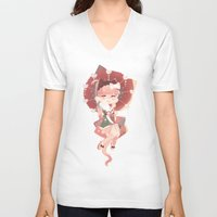 vocaloid V-neck T-shirts featuring (VOC) Easy as I - RO - HA ! by Crispy