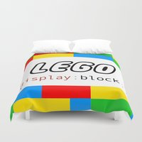 pun Duvet Covers featuring CSS Pun - Lego by iwantdesigns