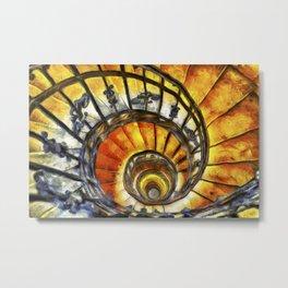 Spiral Staircase Van Gogh Metal Print