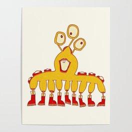 Robot Alien Monster No 085 Poster