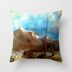 Soguk Nehir Throw Pillow