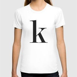 "Monogram Series Letter ""K""  T-shirt"