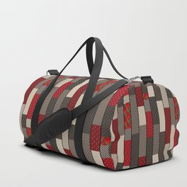 Country motifs . Classic quilting. Duffle Bag