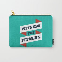 Lab No. 4 - Witness The Fitness Gym Motivational Quotes Poster Carry-All Pouch