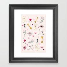 happy valentine Framed Art Print
