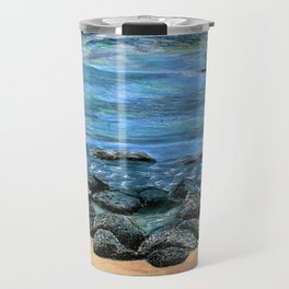 Poipu Beach Landscape Travel Mug