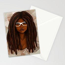 White Glasses Stationery Cards