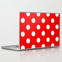 polka dots Laptop & iPad Skins featuring Polka dots  by MIKITCHU