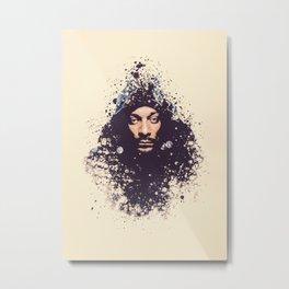 Snoop Dogg splatter painting Metal Print