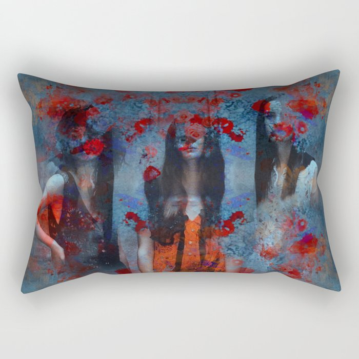 Abstract three women Rectangular Pillow