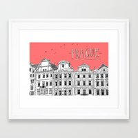 prague Framed Art Prints featuring Prague by jeune-jaune