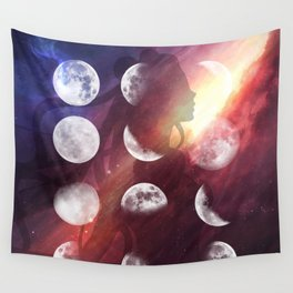 Moon Goddess Selene Wall Tapestry
