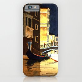 Evening In Venice Italy iPhone Case