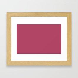 Dunn & Edwards 2019 Trending Colors Sangria (Pink) DE5041 Solid Color Framed Art Print