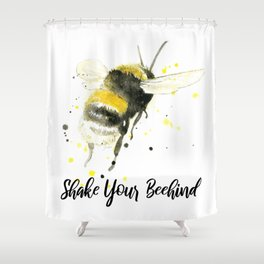 Shake Your Beehind - Punny Bee Shower Curtain
