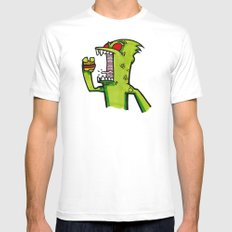 kid komodo vs burger White SMALL Mens Fitted Tee
